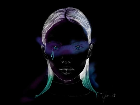 seeing dark colors